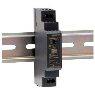 MWHDR1524 Schaltnetzteil, Hutschiene, 15,2 W, 24 V, 0,63 A