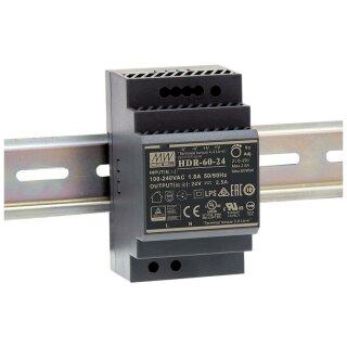 MWHDR6024 Schaltnetztei, Hutschiene, 60W,  24V DC, max. 2,5A