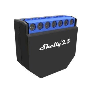 Shelly 2.5 Dual-Schaltaktor mit Leistungsmessung z.B. für Home Assistant, PioBox oder Homematic CCU3