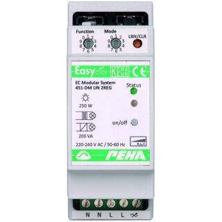 PEHA EnOcean Easyclick Modul Uni-Dimm, 1 Kanal, 2 TE, D 451 FU-DM UN 2REG