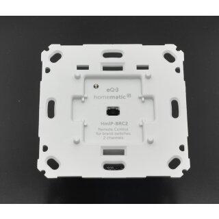 Homematic IP Wandtaster für Markenschalter – 2-fach  HmIP-BRC2