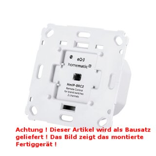 Homematic IP Wandtaster für Markenschalter HmIP-BRC2, 2-fach, 230V, Bausatz !