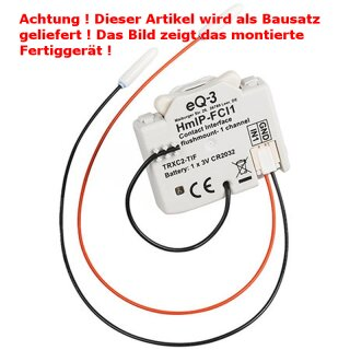 Homematic IP Komplettbausatz Kontakt-Schnittstelle Unterputz – 1-fach HmIP-FCI1