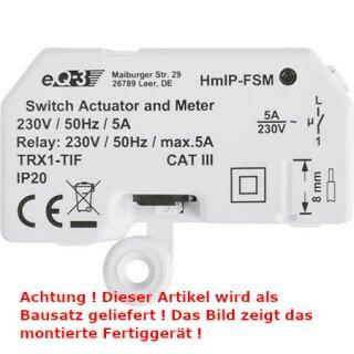 Homematic IP Schalt-Mess-Aktor HMIP-FSM 5A - Unterputz, ARR-Bausatz !