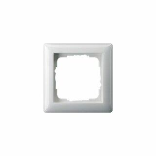 GIRA 55 Abdeckrahmen 021103, 1 fach, Reinweiß glänzend