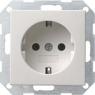 GIRA 55 SCHUKO-Steckdose 018803, 16 A 250 V~ Reinweiß glänzend