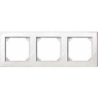 Merten Rahmen dreifach M-SMART polarweiß glänzend