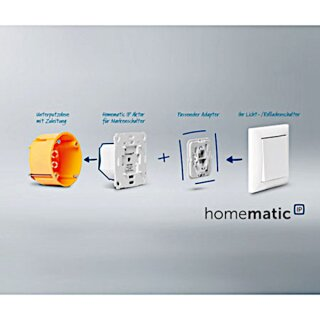 Homematic IP Rolladenaktor HmIP-BROLL incl. Busch Jäger Wippe und Rahmen Balance SI
