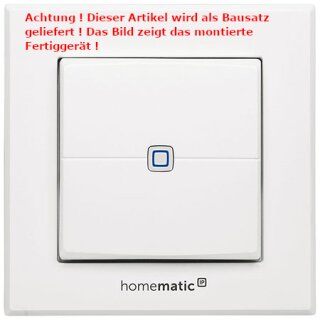 Homematic IP Wandtaster 2-fach HMIP-WRC2, Bausatz !